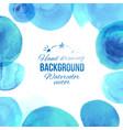 watercolor blu circles frame vector image vector image