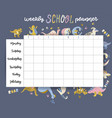 weekly and daily planner page design template vector image vector image