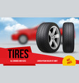 wheel ads brochure template with car wheels vector image vector image