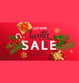 winter sale banner for new year holidays vector image vector image