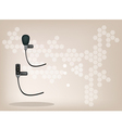 Wireless Microphone Brown Background vector image vector image