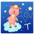 Zodiac signs -Capricorn vector image vector image