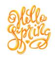 hello spring poster vector image