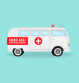 retro ambulance car emergency medical service vector image