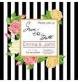Save the date card with rose Marriage invitation vector image
