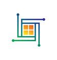 window technology sign logo vector image
