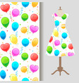 dress fabric pattern with party baloons vector image