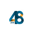 48 year anniversary template design vector image