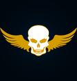 a skull with wings vector image