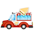 A vehicle selling sandwiches vector image vector image