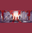 abandoned medieval castle with royal thrones vector image
