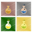 assembly flat shading style icons halloween potion vector image vector image
