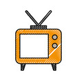 big old television vector image vector image