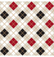 black and red argyle harlequin seamless pattern vector image vector image