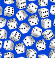 Black and white 3D dice seamless pattern vector image