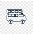 bus concept linear icon isolated on transparent vector image
