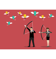 Business trick betray meanness situation concept vector image