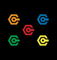 c letter logo design security vector image