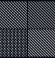 carbon fiber seamless patterns vector image vector image
