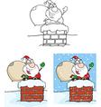 Cartoon santa design vector image vector image