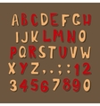 Christmas cartoon alphabet vector image vector image