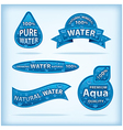 clear water labels vector image vector image