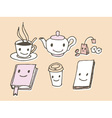 Coffee Shop Icons vector image vector image