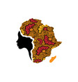 concept african woman face profile silhouette vector image vector image