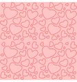 Cute pink seamless texture with red hearts vector image vector image