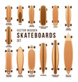 different skateboard types templates set vector image