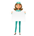 doctor with whiteboard for presentation flat vector image