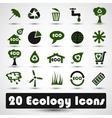 Eco icons set Use for business vector image