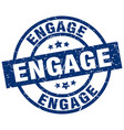 engage blue round grunge stamp vector image vector image