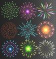 festive colorful firework salute burst vector image