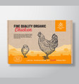 fine quality organic chicken meat vector image vector image
