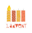 first sunday in advent vector image vector image