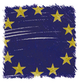 Flag of European Union handmade square shape vector image