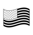 flag united states of america waving design black vector image vector image