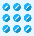 Flat icons for longboard vector image vector image