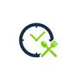 food time logo icon design vector image vector image
