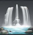 fountain waterworks realistic transparent vector image