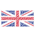 great britain flag mosaic of aviation bomb items vector image vector image