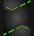 Green and black contrast gradients tech design vector image vector image