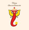 happy ganesh chaturthi festival poster design vector image vector image