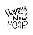 happy new year stroke calligraphy greeting card vector image