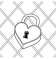 heart shaped lock coloring book vector image