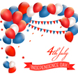 Holiday American background with colorful balloons vector image vector image
