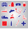 hospital and sick stickers eps10 vector image vector image