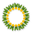 indian floral wreath vector image