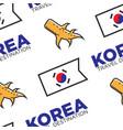 korea travel destination korean flag and ginger vector image vector image